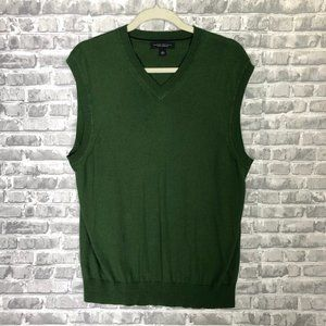 BANANA REPUBLIC Silk Cashmere Green Vest D2